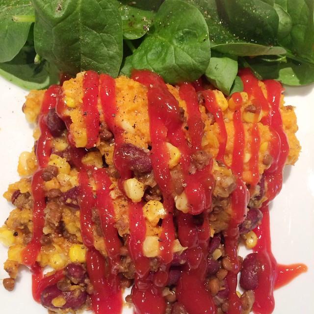 Pâté chinois mexicain aux patates douces | Dodo la Grano - recettes végétaliennes, santé et simples