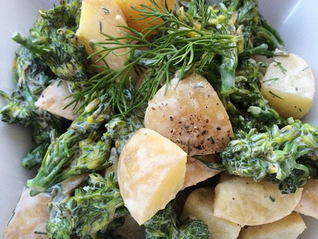 Salade de patates et brocolinis