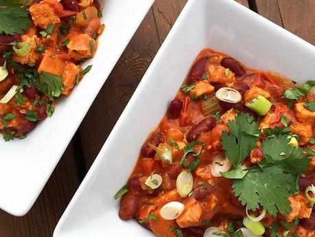 Chili au tempeh et haricots rouges