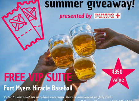 Pumps Plus Summer Giveaway: You Can Win A VIP Suite To Fort Myers Miracle Baseball!