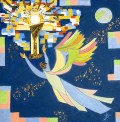 Un ange adore dans la louange