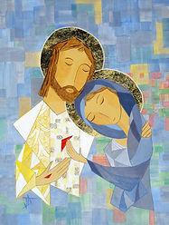 Marie et Jésus ressuscité