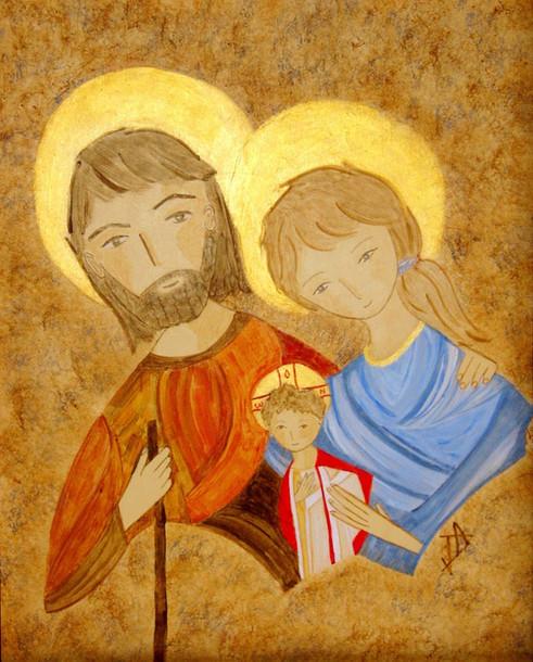 Sainte Famille, la fuite en Egypte