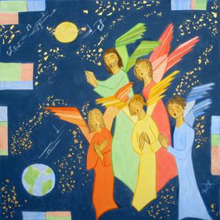 Une troupe céleste innombrable louait Dieu