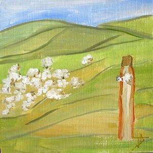 Il porte les agneaux sur son cœur