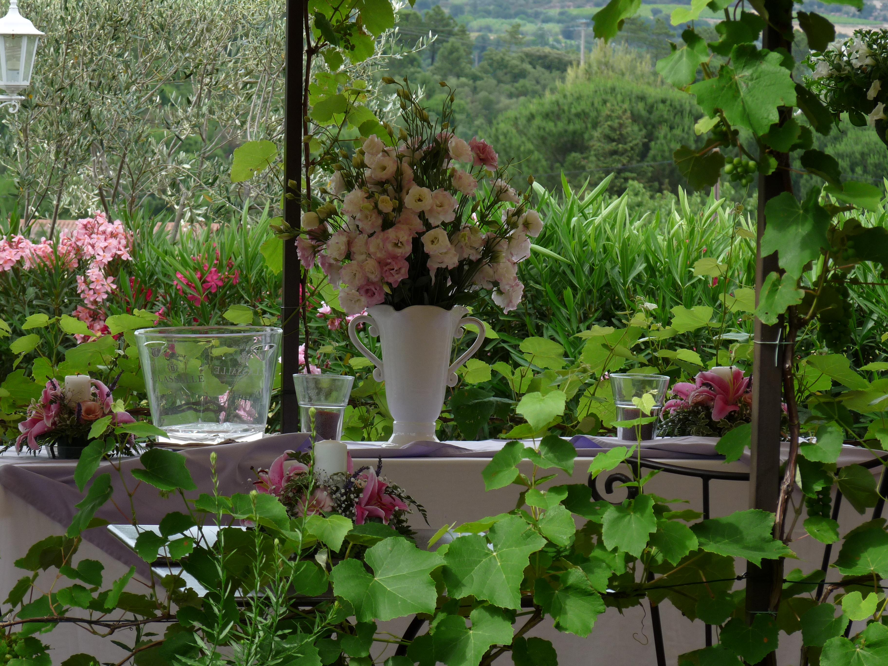 Entre les fleurs et la verdure