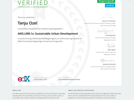 Sustainable Urban Development certificate