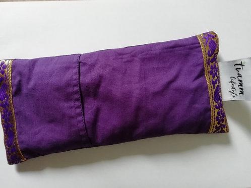 Augenkissen Lavendel - Brokat
