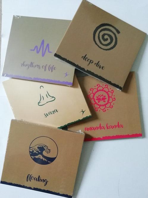 CD-Set Yogamusik - GEMA frei - 5 CDs