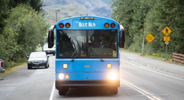 Blue Bus Glacier Express