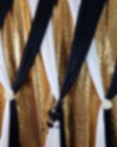 Beautifully draped backdrops make your e