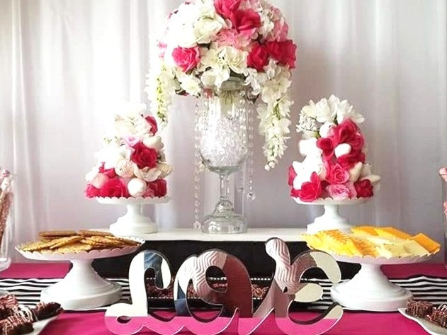 Pink and White Floral Centerpieces