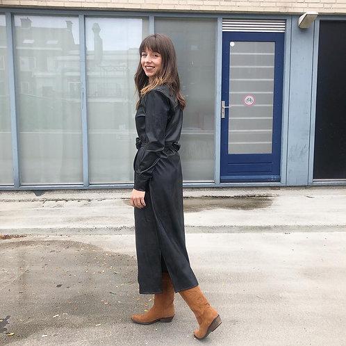Chastar Black Vegan Leather Dress