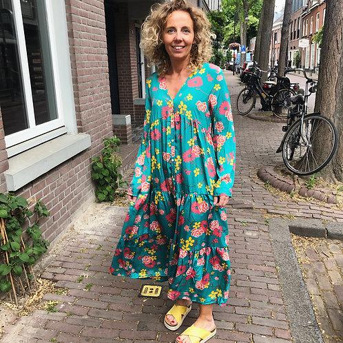 Flower Power Green Dress