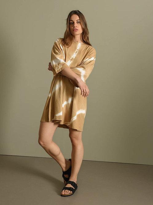 T-Shirt Dress Batik Camel