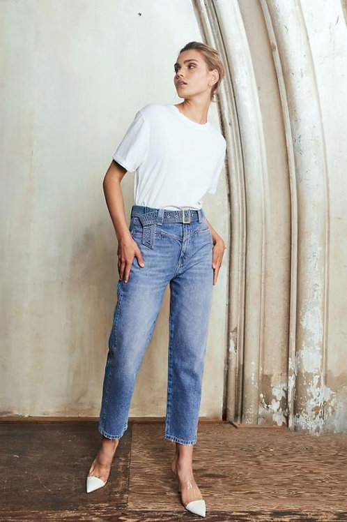 Homage Belted Straight Jeans