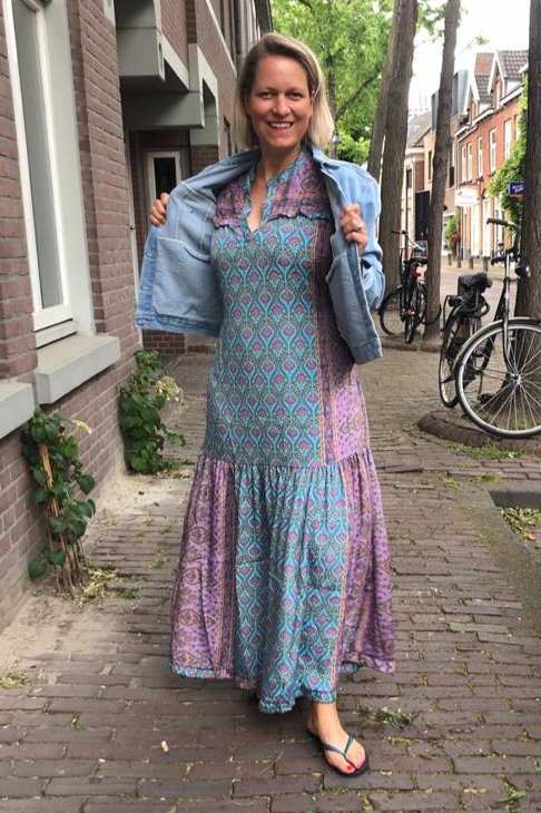 Boho Pastel Maxi Dress