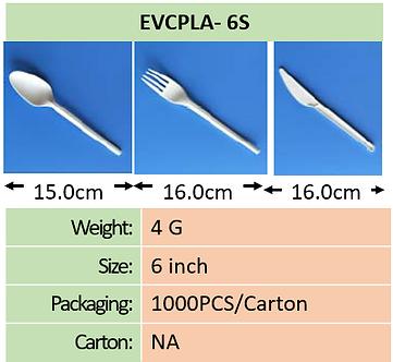 CPLA 6 Inch Cutlery