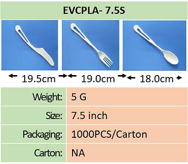 CPLA 7.5 Inch Cutlery
