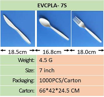 CPLA 7 Inch Cutlery