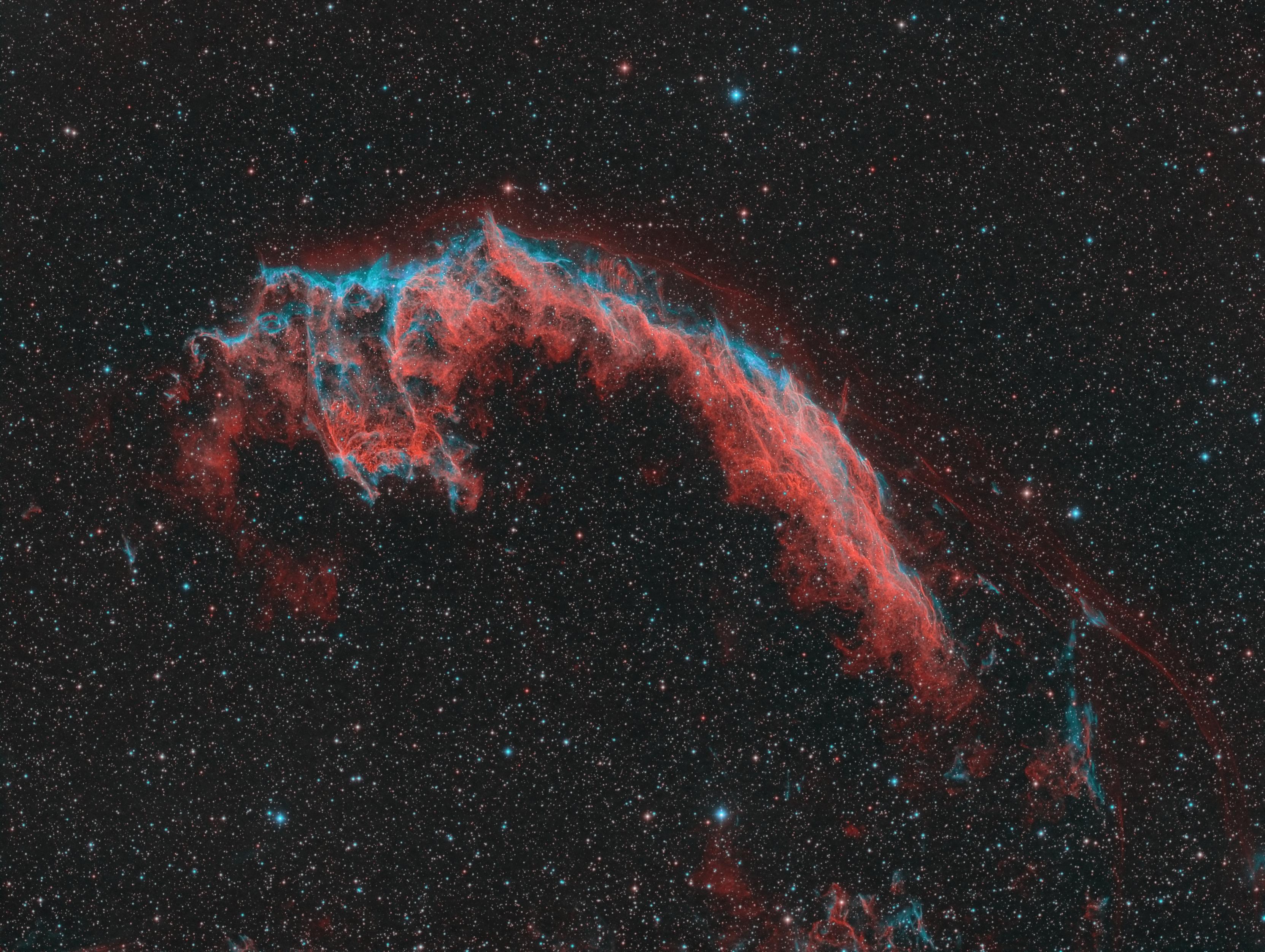 Veil Nebula in bicolor