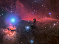 Horsehead and Flame Nebula