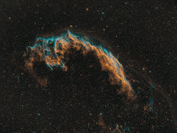 Veil Nebula in SHO