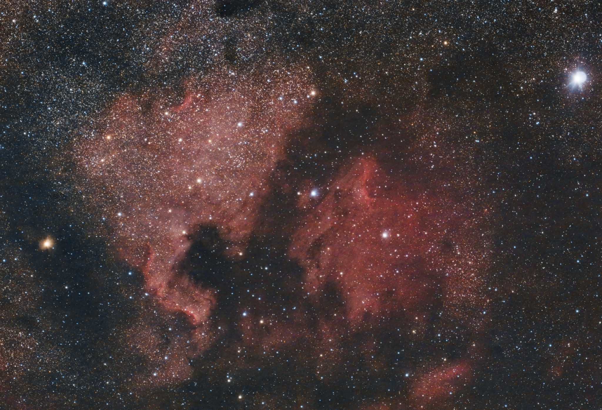 North American and Pelican Nebula