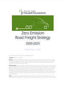 Zero Emission Road Freight Strategy 2020-2025