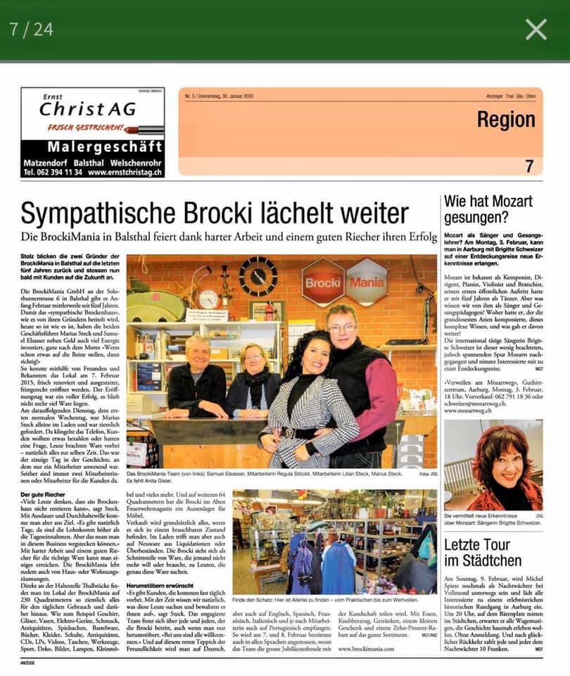 Bericht im Anzeiger!