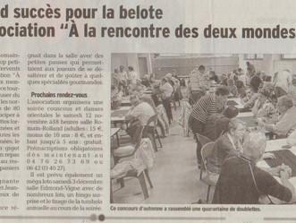 Manifestations réussies : les articles du Dauphiné Libéré