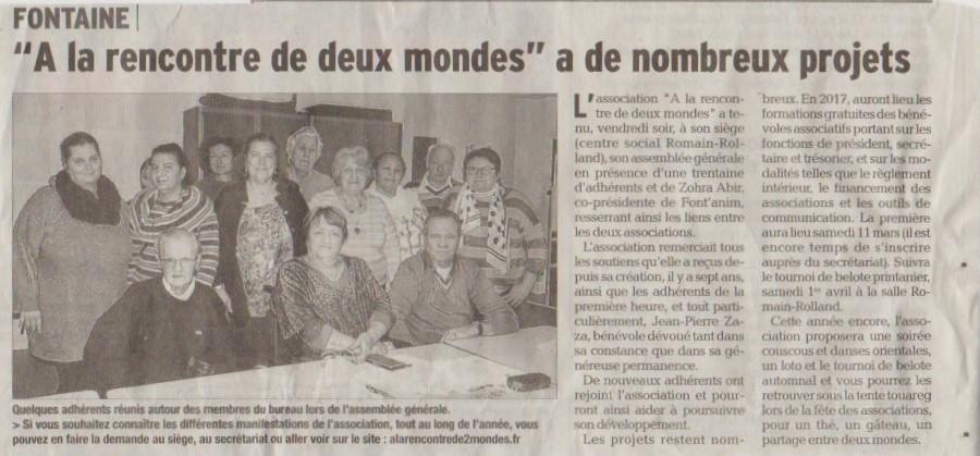 Dauphiné Libéré du 7 mars 2017