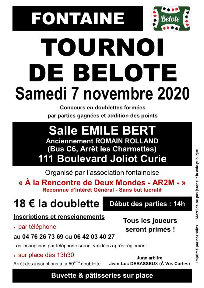 Tournoi de Belote de l'Automne, 7 novembre 2020