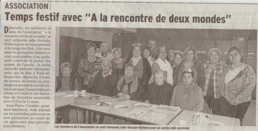 Dauphiné Libéré du 24 janvier 2017