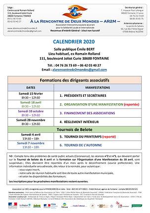 Calendrier Manifestations 2020 au 07_05_