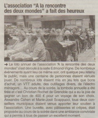 Dauphiné Libéré du 7 décembre 2016