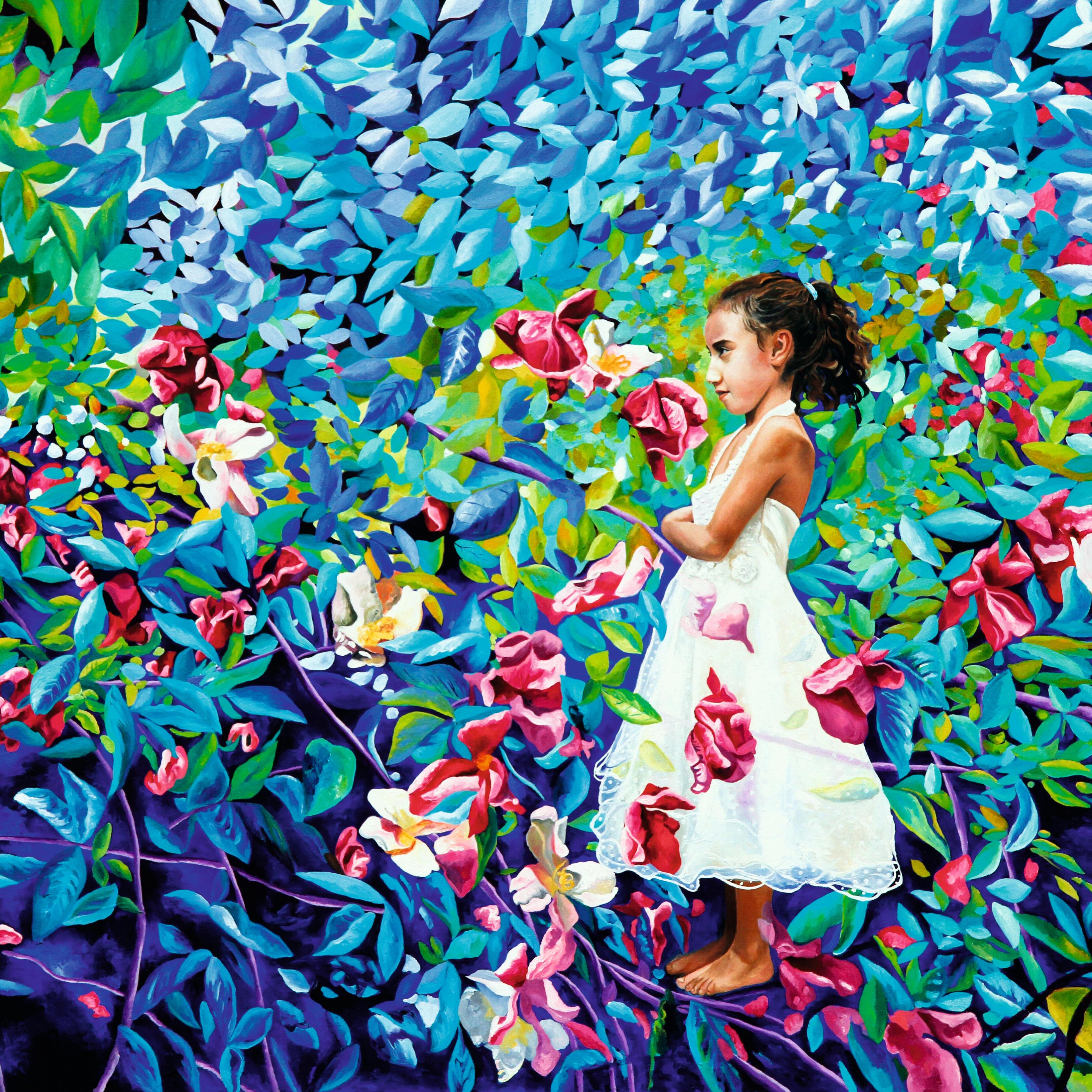 Fleurs et Salma Azul
