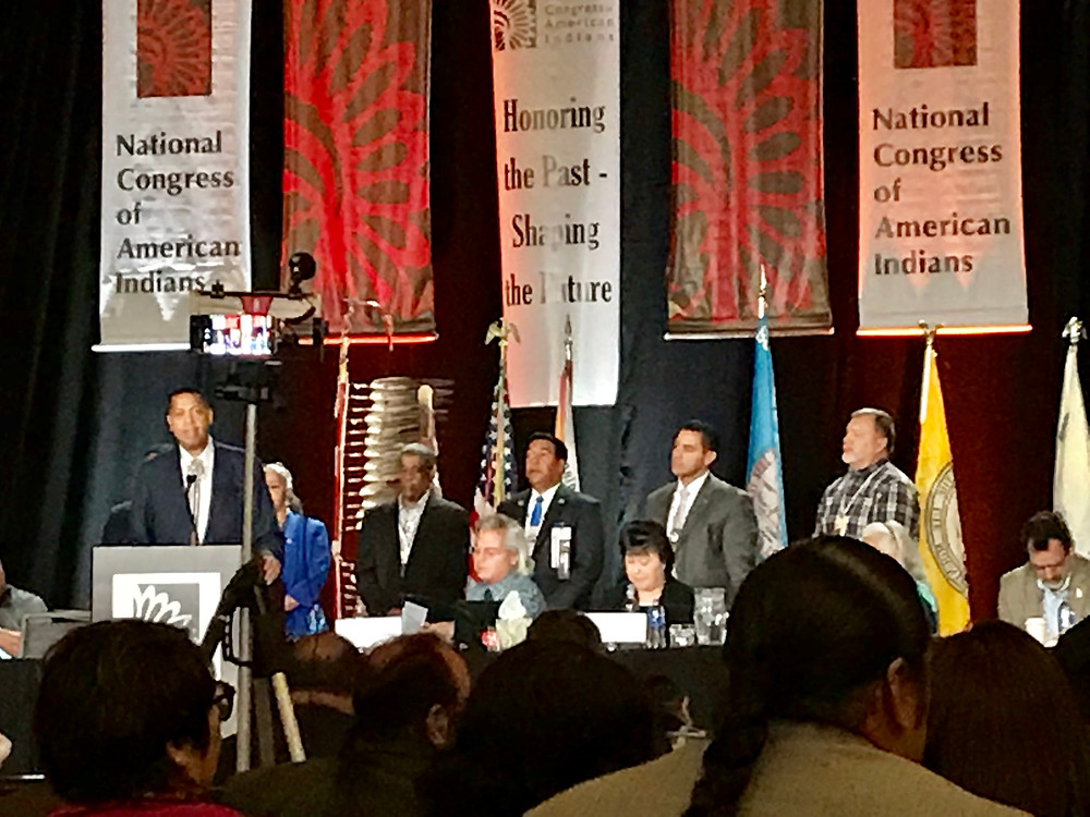 Tribal Council Chairman Cedric Cromwell address at the NCAI in Denver, CO