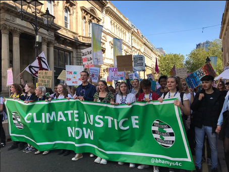 """GET SERIOUS ABOUT THE CLIMATE"": THE NEW ENVIRONMENTAL CAMPAIGN OF BHAM YOUTH STRIKE FOR CLIMATE"