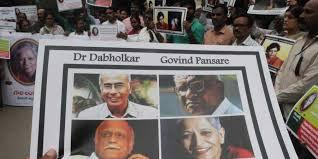 Indian Rationalist icons assassinated in last five years: Narendra Dabholkar, Govind Pansare, M Kalburgi, Gauri Lankesh.