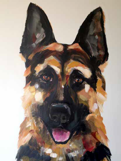 Angle the German Shepherd