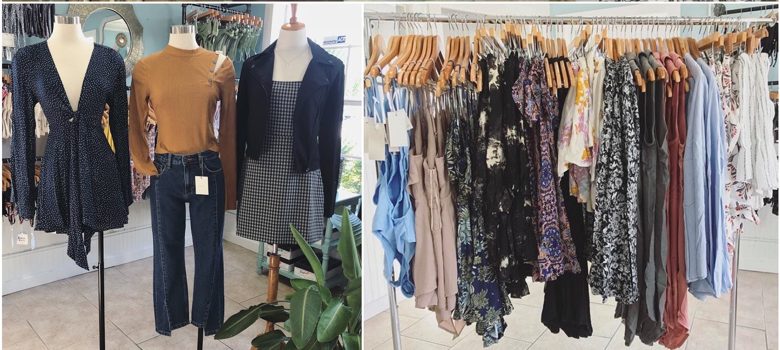 Resort wear and gift shops