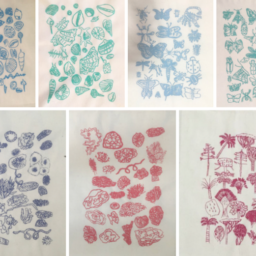 EDUCATION - screen printing workshop - TZ's fauna & flora