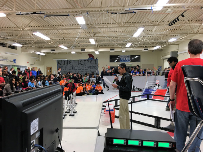 Emceeing at the 2016 FTC Super Qualifiers
