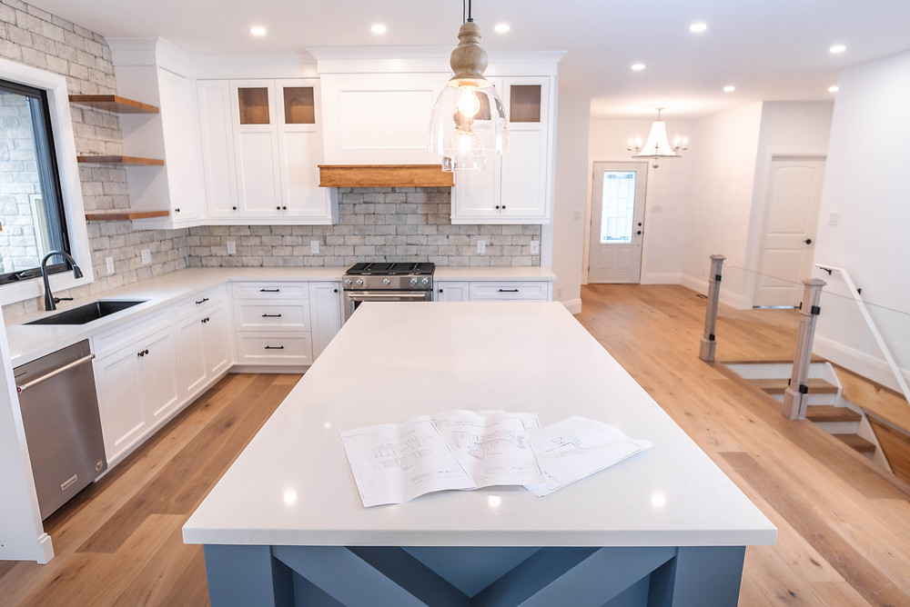 home interior kitchen and island