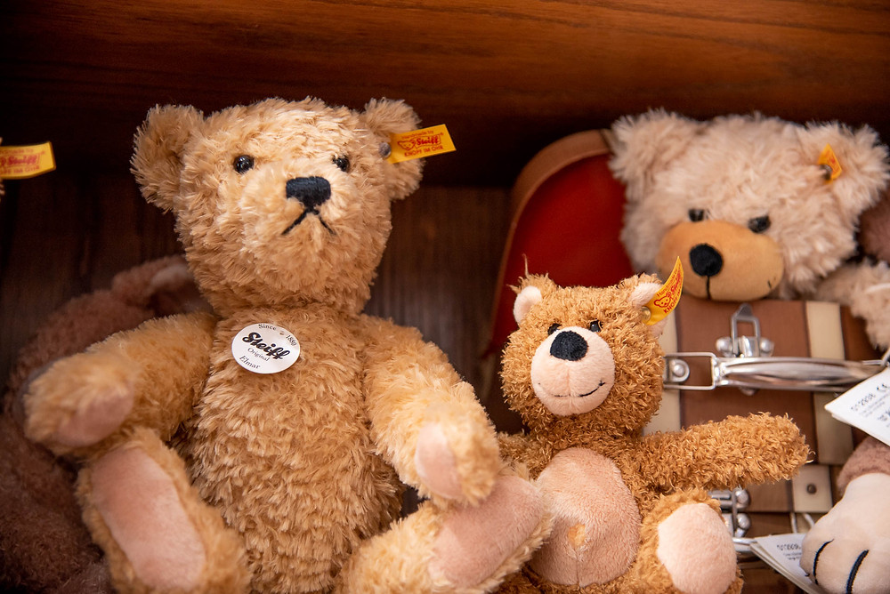 Classic Teddy Bears on display