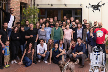 The wonderful crew at Design Group Italia (headquarter, Milan)