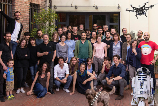 The wonderful crew at Design Group Italia (headquarter, Milan)