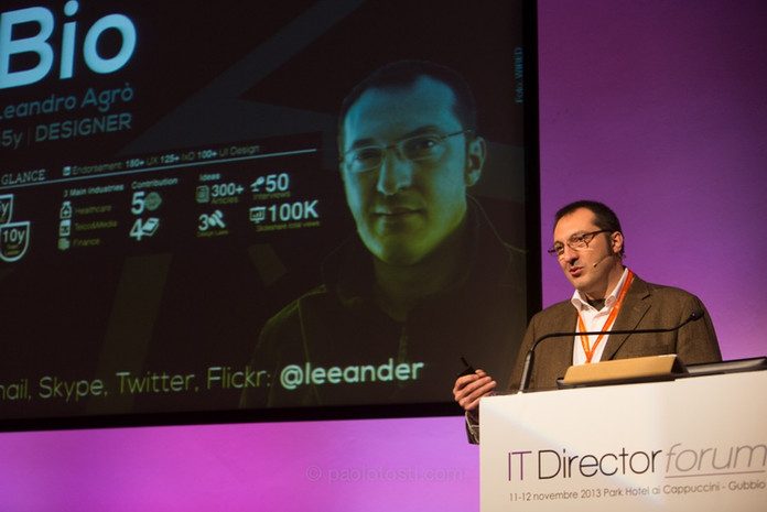 Keynoter at ITDirector Forum: hunderds of CIO vs ONE designer