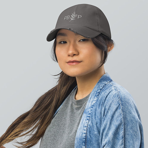 Embroidered Distressed Baseball Cap